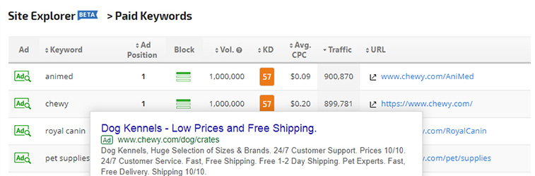Paid Keywords