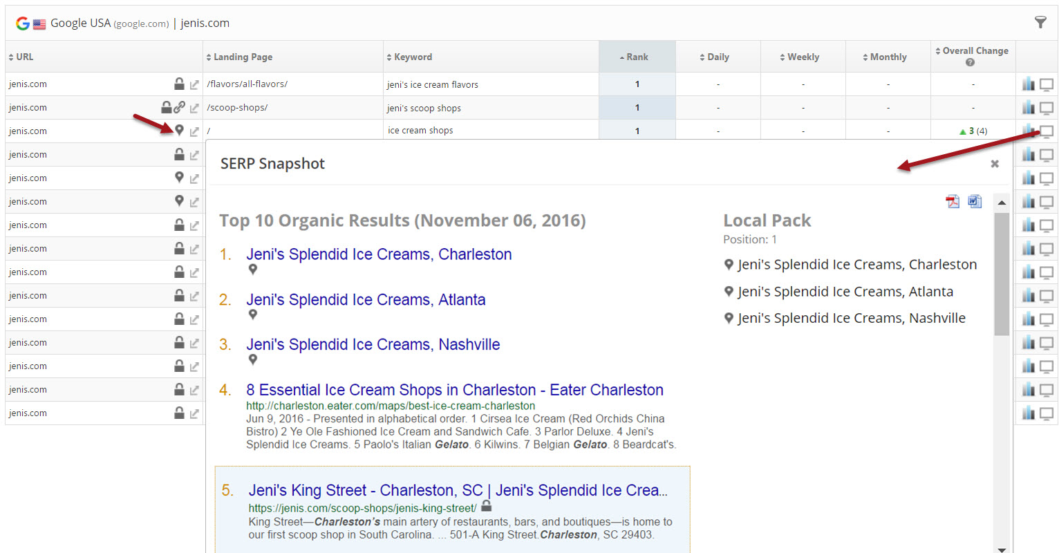 Google local pack rank tracking