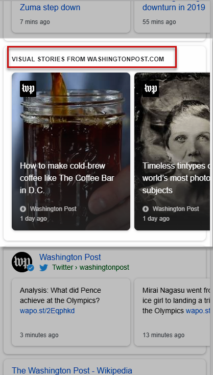 Washington Post AMP Stories