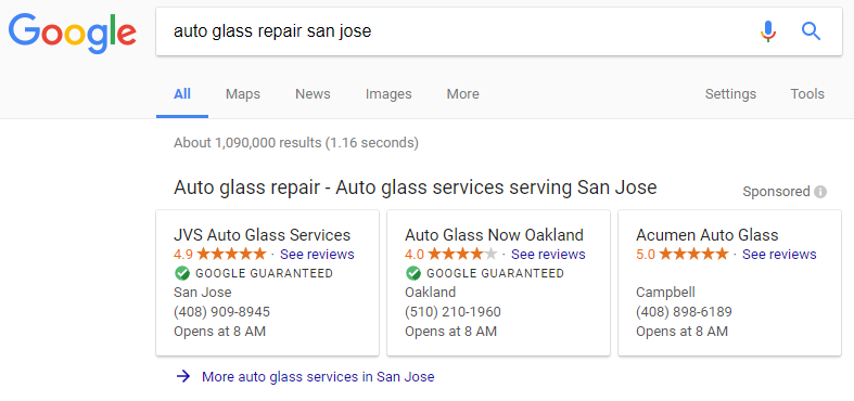 Auto Glass Repair - Local Service Ads