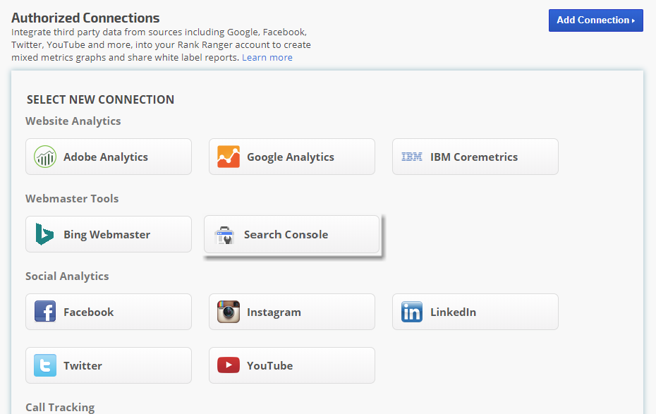 Google Webmaster Tools Search Console integration