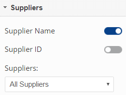 Link Dashboard Suppliers