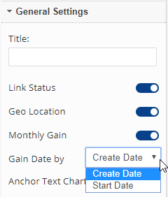 Link Dashboard General Settings