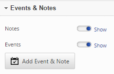 Adding Events and Notes