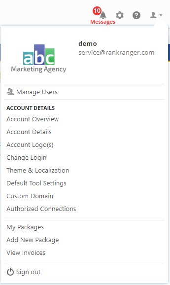 Manage Account Settings