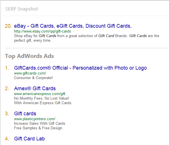 Discover top AdWords ads