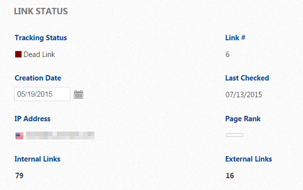Link Status Dead Link, Host Not Found