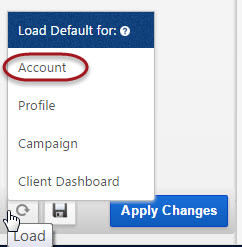 Account default settings