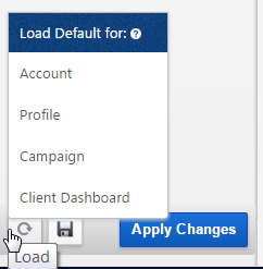 Load Report Default Settings