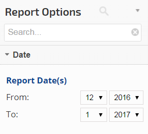 select a report start and end date