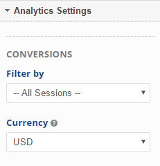 select analytics settings