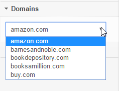 Select the domain