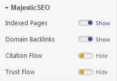 Magestic SEO Settings