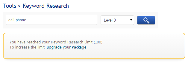 Increase Keyword Research Limit