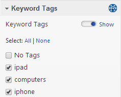 Select Keyword Tags